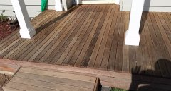20 year old decking. Cleaned.