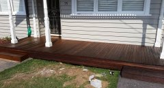 20 year old decking. Freshly oiled.